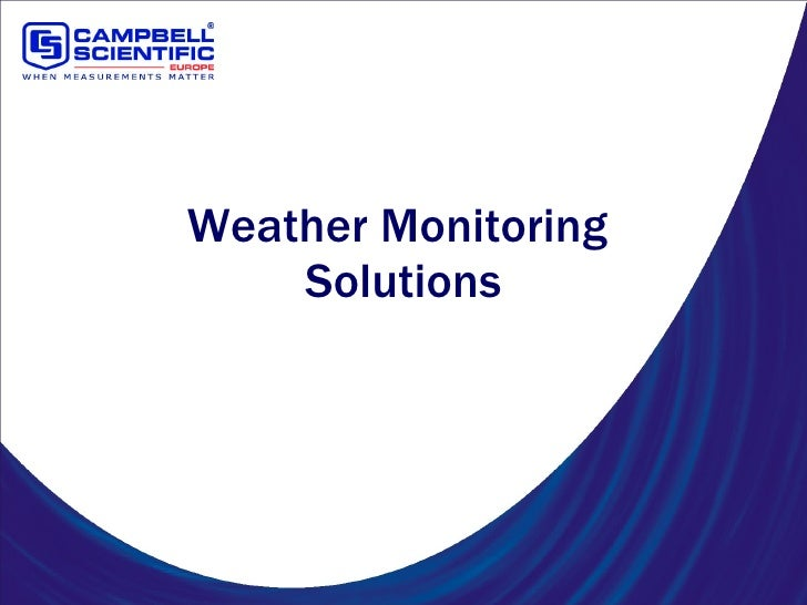 Weather Monitoring  Solutions