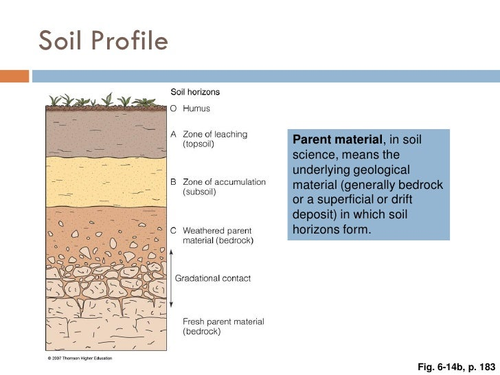 Weathering erosion and soil for Soil profile video