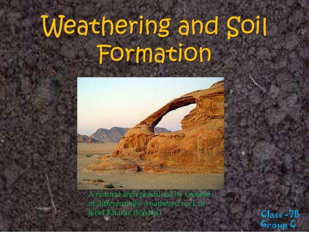 Weathering and soil formation class 7 for T and t soils