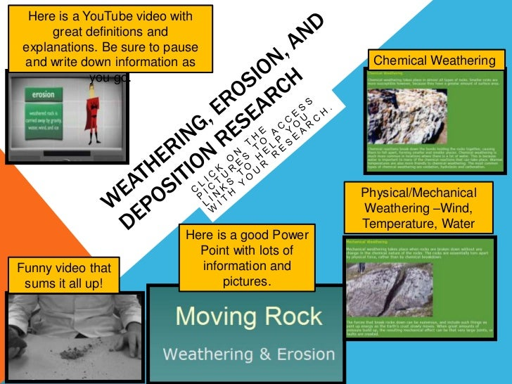 Weathering, Erosion, and Deposition Research