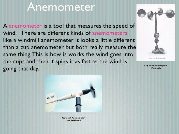 Types Of Weather Instruments : Weather instruments