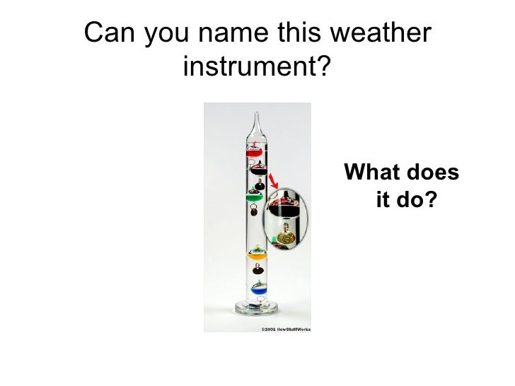 Weather instruments – Weather Tools Worksheet