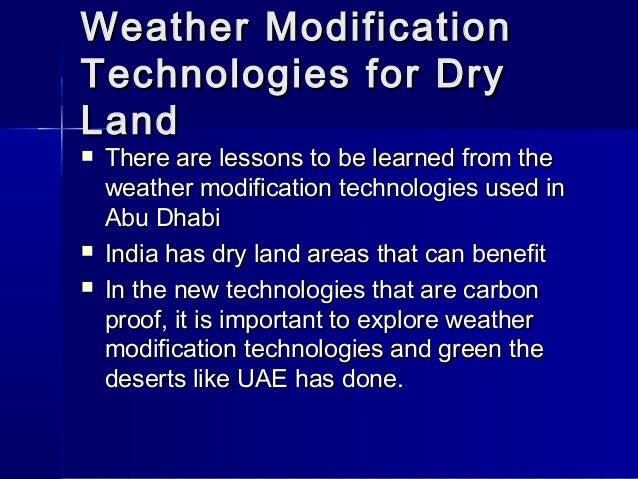 Making Rajasthan Green using Weather Modificatin Technologies  Slide 3