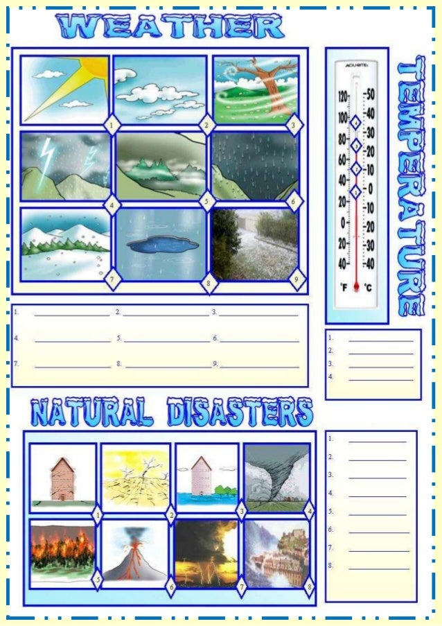 Weather Natural Match (English Excercise)
