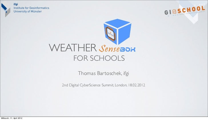 WEATHER                                   FOR SCHOOLS                                     Thomas Bartoschek, ifgi         ...