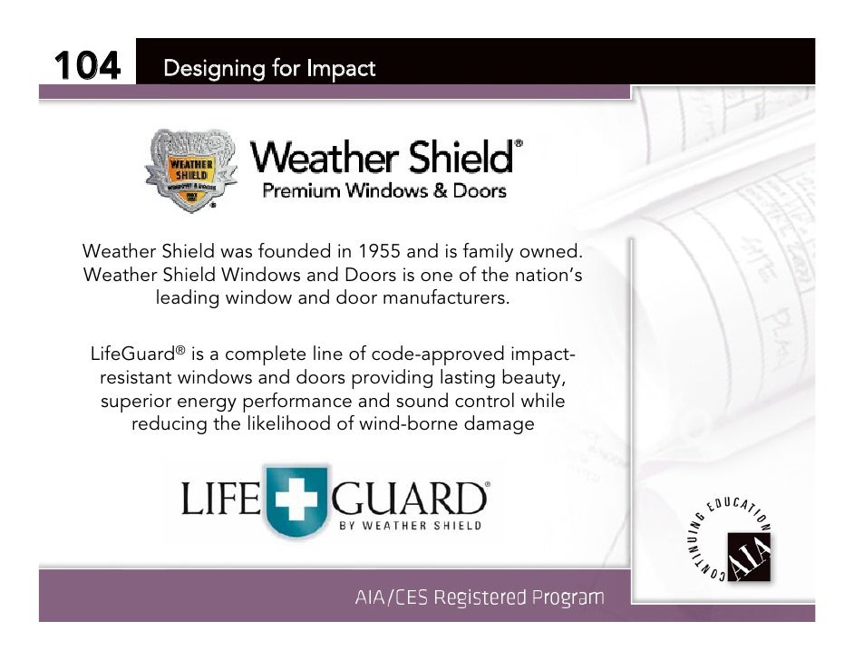 Weather Shield Aia Course