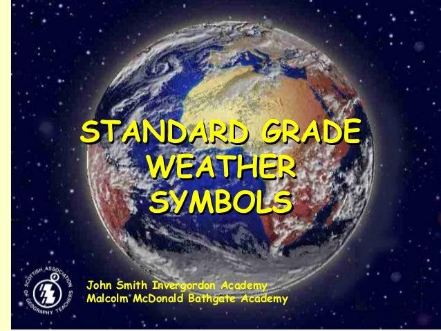 STANDARD GRADESTANDARD GRADE WEATHERWEATHER SYMBOLSSYMBOLS John Smith Invergordon Academy Malcolm McDonald Bathgate Academy
