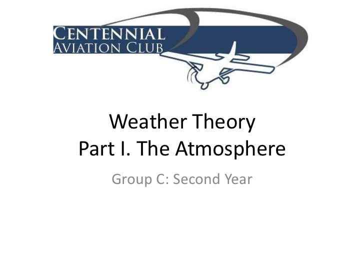 Weather TheoryPart I. The Atmosphere<br />Group C: Second Year<br />