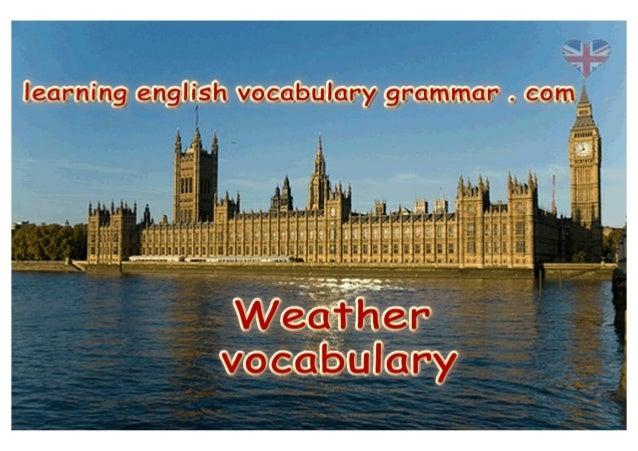 Weather vocabulary PDF learning English basics for weather