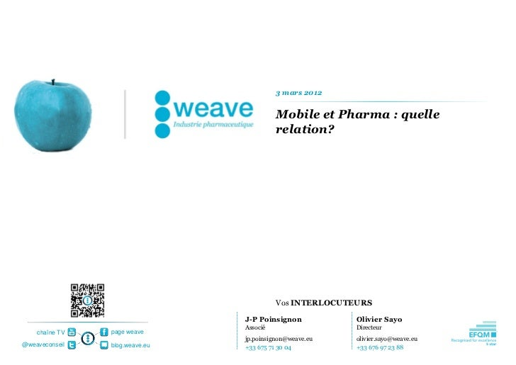 3 mars 2012                                          Mobile et Pharma : quelle                                          re...