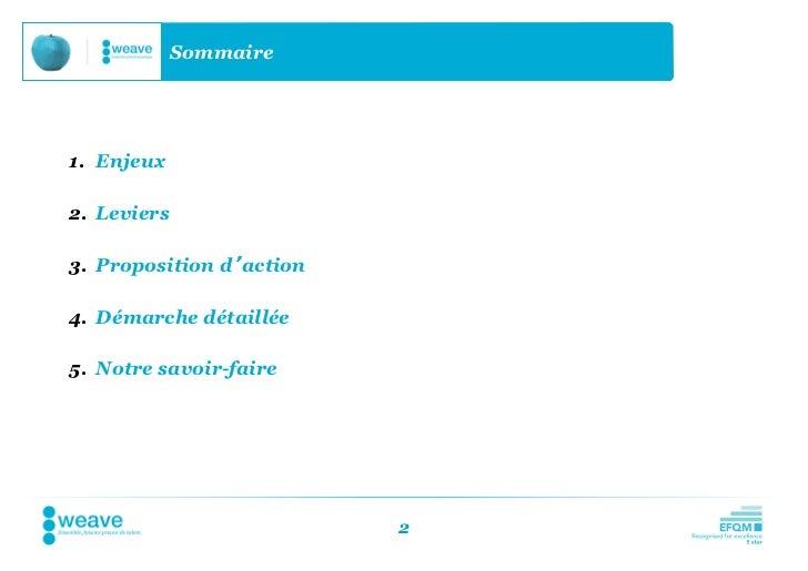Sommaire1. Enjeux2. Leviers3. Proposition d'action4. Démarche détaillée5. Notre savoir-faire                          2