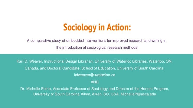 Sociology in Action: A comparative study of embedded interventions for improved research and writing in the introduction o...