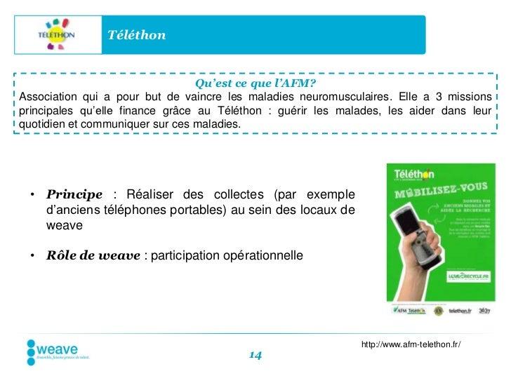 Téléthon                                  Qu'est ce que l'AFM?Association qui a pour but de vaincre les maladies neuromusc...