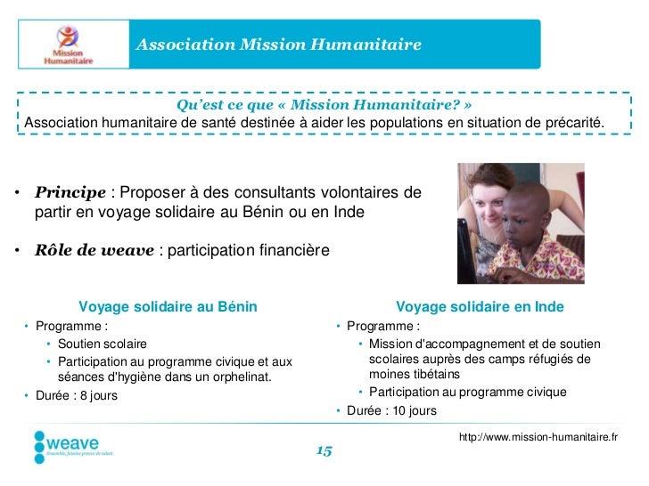 Association Mission Humanitaire                        Qu'est ce que « Mission Humanitaire? » Association humanitaire de s...