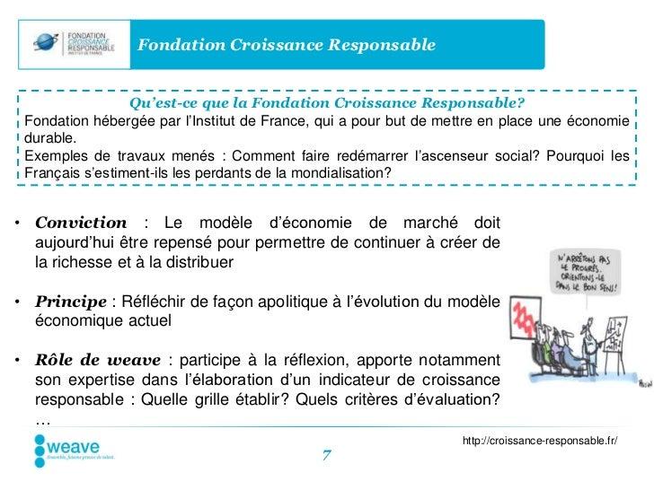Fondation Croissance Responsable                 Qu'est-ce que la Fondation Croissance Responsable? Fondation hébergée par...