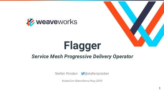 Flagger Service Mesh Progressive Delivery Operator Stefan Prodan @stefanprodan KubeCon Barcelona May 2019 1