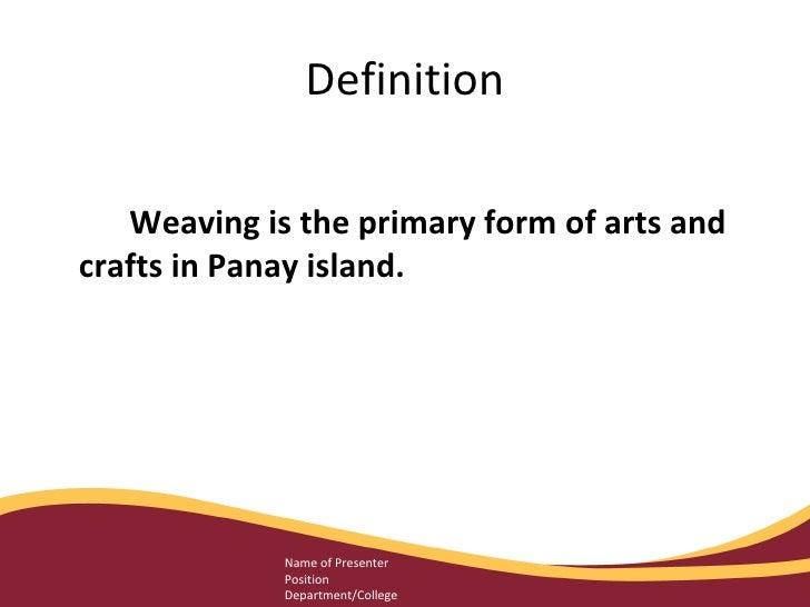 Weaving Slide 2