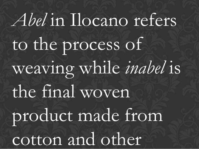 Weaving ( cordillera and region 1)
