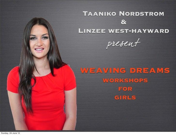 Taaniko Nordstrom                              &                     Linzee west-hayward                           present...