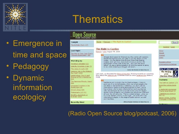 Web 2.0 and pedagogy overview, Wesleyan 2006 Slide 3