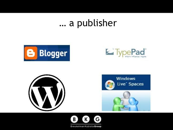 … a publisher