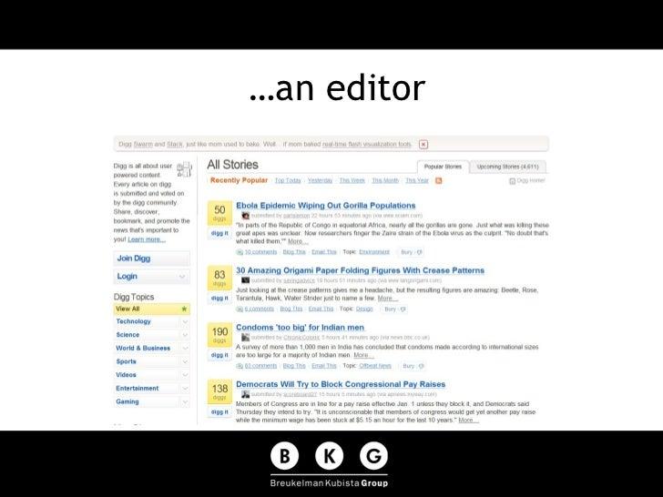 …an editor