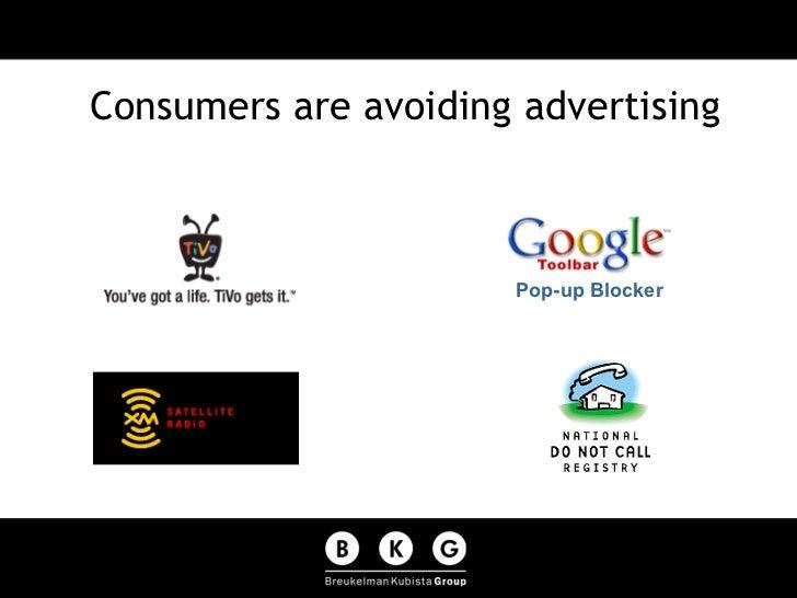 Consumers are avoiding advertising Pop-up Blocker