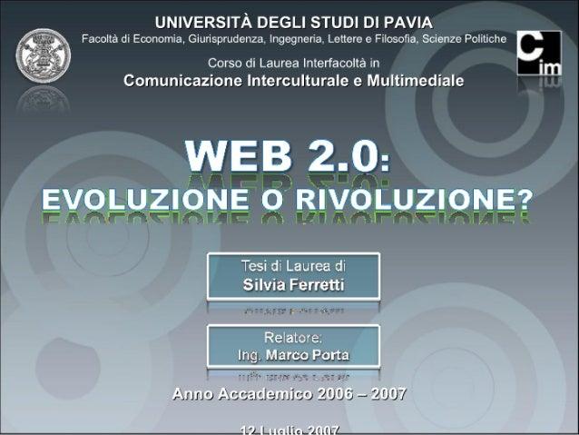 Web 2.0: evoluzione o rivoluzione