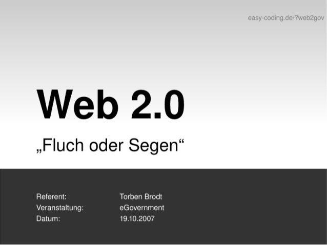 "Web 2.0 - ""Fluch oder Segen"""