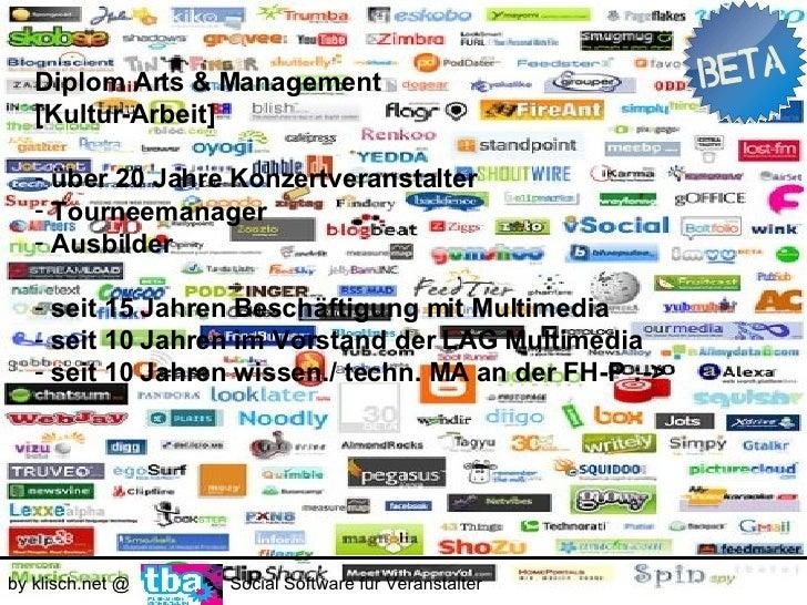 by klisch.net @   Social Software für Veranstalter