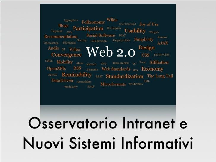 Osservatorio Intranet e Nuovi Sistemi Informativi