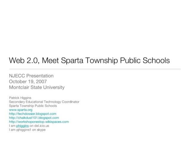 Web 2.0, Meet Sparta Township Public Schools