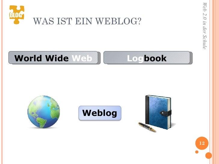 WAS IST EIN WEBLOG? World Wide  Web Log book Weblog