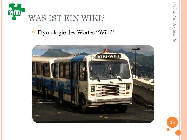 """WAS IST EIN WIKI? <ul><li>Etymologie des Wortes """"Wiki"""" </li></ul>"""