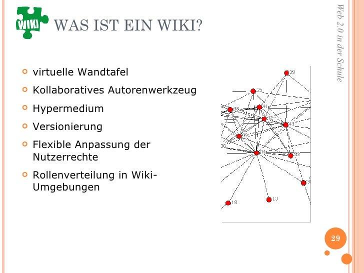 WAS IST EIN WIKI? <ul><li>virtuelle Wandtafel </li></ul><ul><li>Kollaboratives Autorenwerkzeug </li></ul><ul><li>Hypermedi...