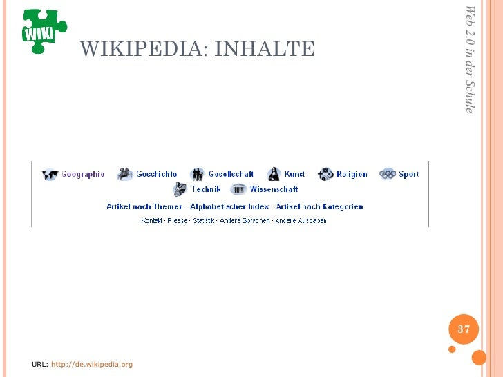 WIKIPEDIA: INHALTE  URL:  http://de.wikipedia.org