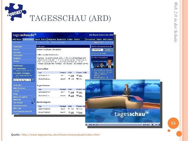 TAGESSCHAU (ARD) <ul><li>Quelle:  http://www.tagesschau.de/infoservices/podcast/index.html </li></ul>