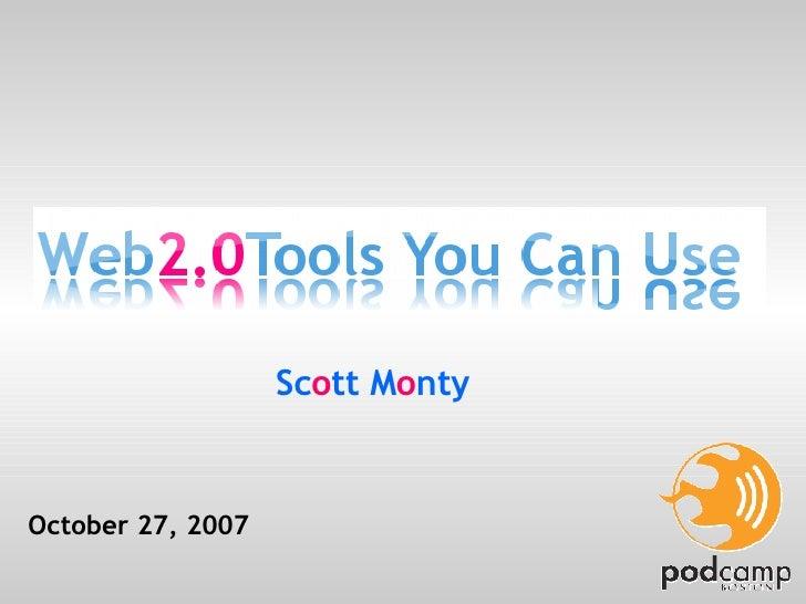 October 27, 2007 Sc o tt M o nty