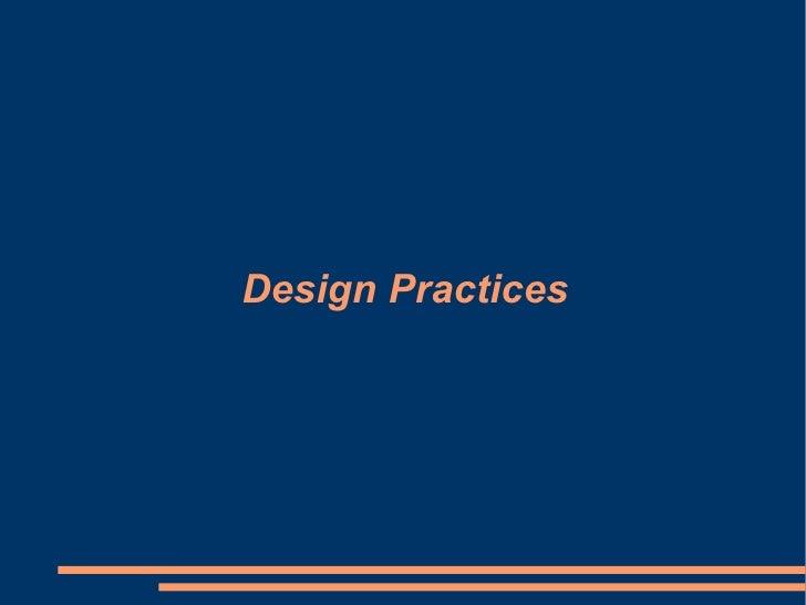 Design Practices