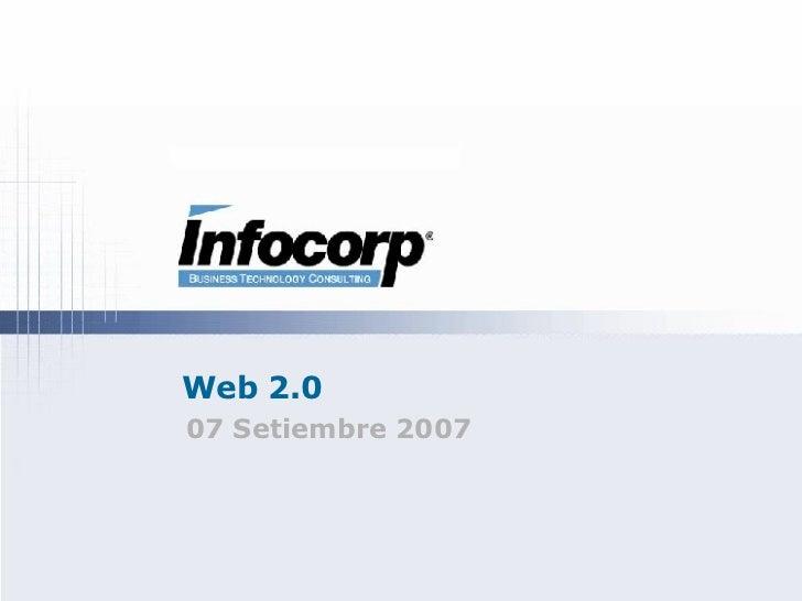 Web 2.0 07 Setiembre 2007