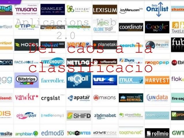 Aplicacions Web 2.0 Del caos a la classificació