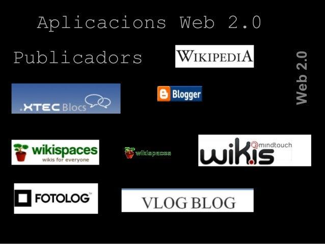Web2.0 Aplicacions Web 2.0 Publicadors