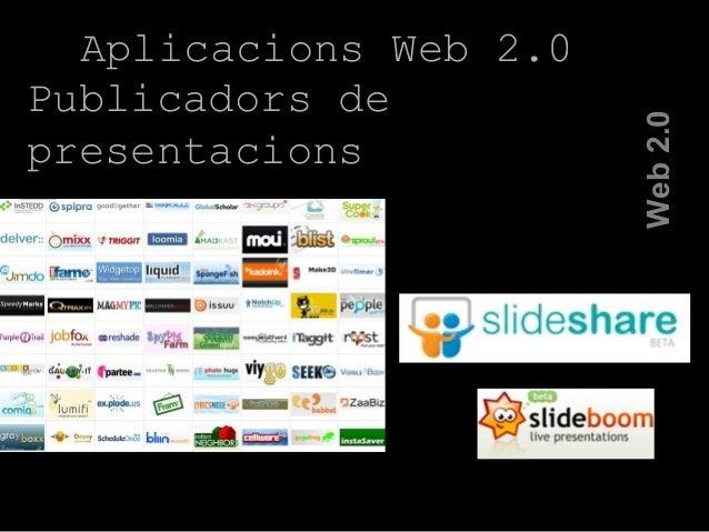 Aplicacions Web 2.0 Publicadors de presentacions Web2.0