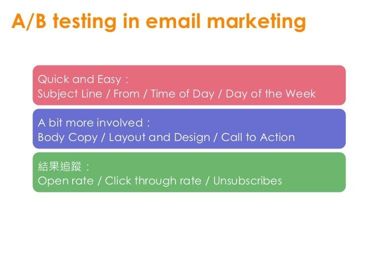 萬變不離其宗 • A/B testing your Website • A/B testing your Mobile App • …