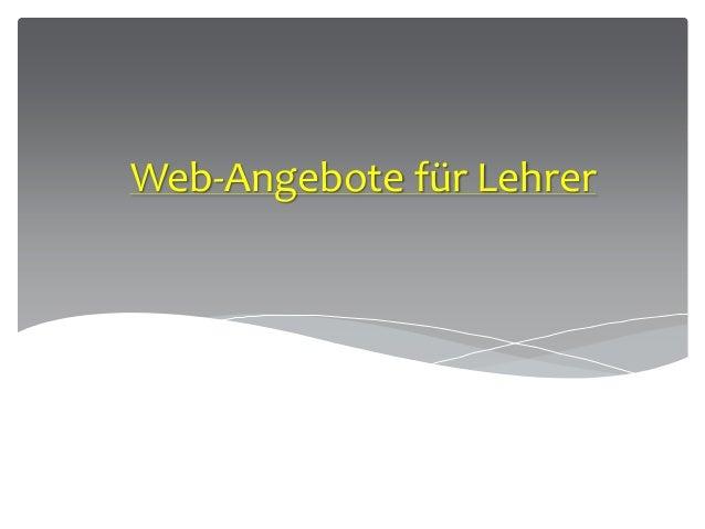Web-Angebote für Lehrer