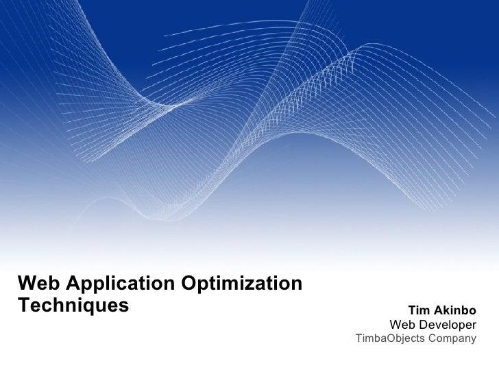 Web Application Optimization Techniques