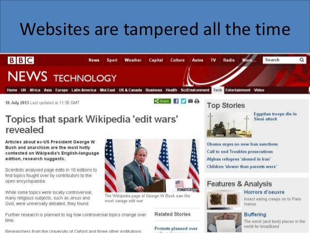 Websites are tampered all the time