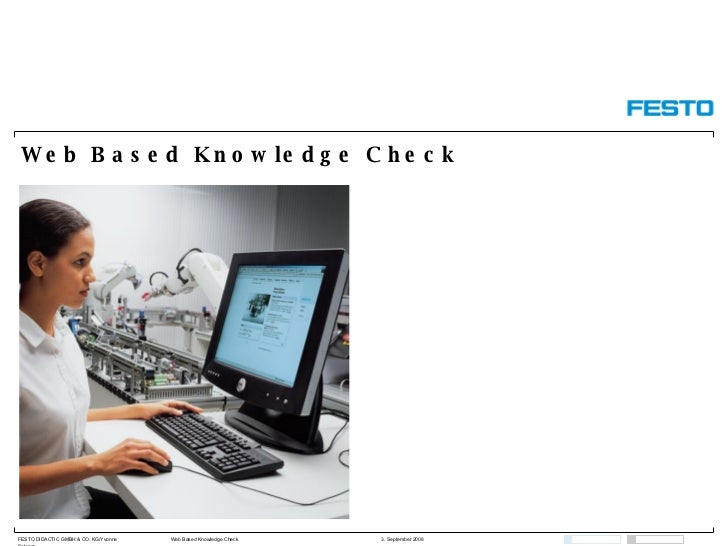 Web  Based  Knowledge Check