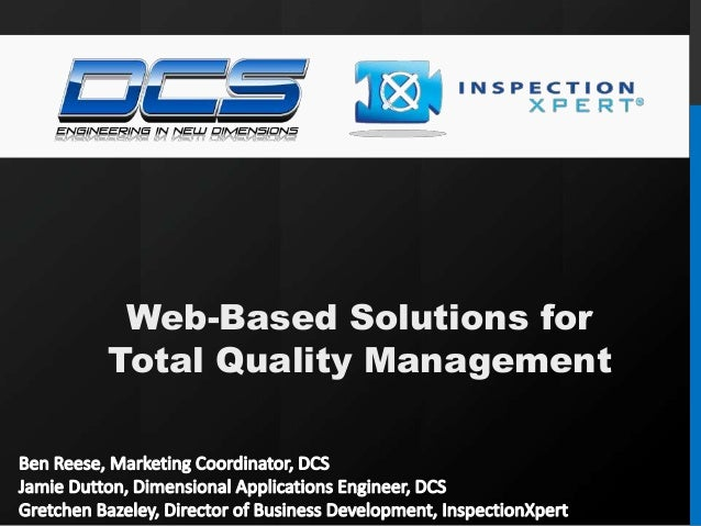 Web-Based Solutions for Total Quality Management