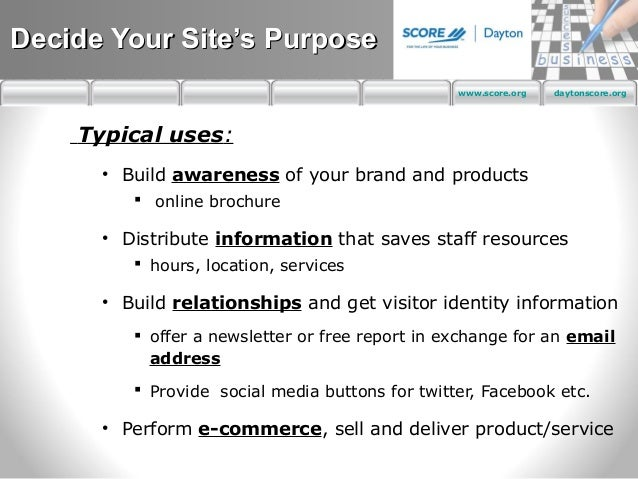 Score business plan for existing business